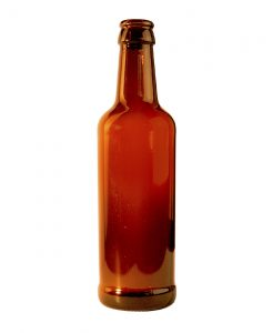 Beer bottle 330ml crown glass amber