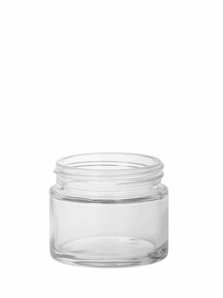 "Cosmetic jar 065ml 58/400 white flint ""Crystal"""