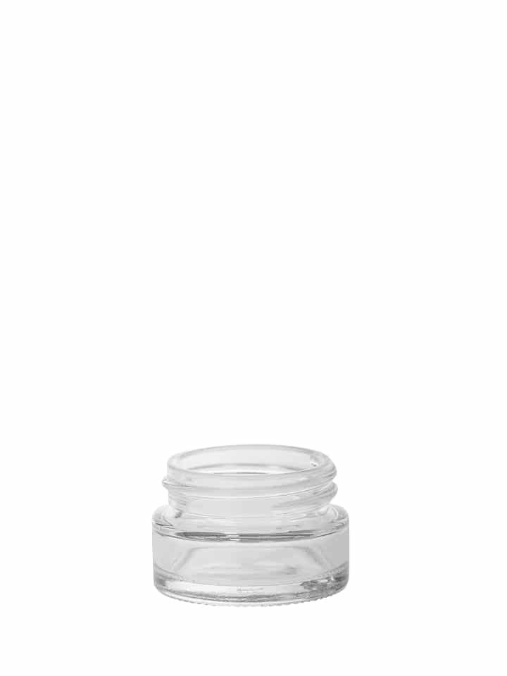 "Cosmetic jar 015ml 40/400 white flint ""Crystal"""