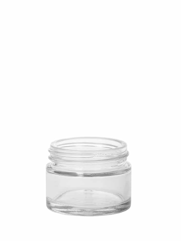 Cosmetic jar 030ml 48/400 white flint « Crystal »