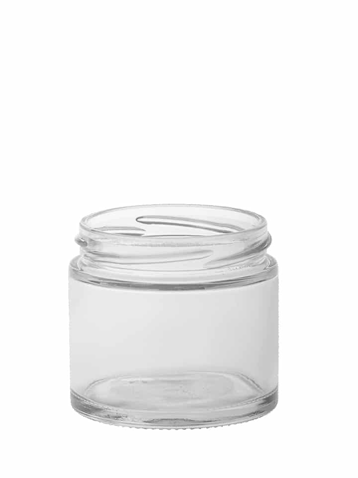 "Cosmetic jar 120ml 66/400 white flint ""Crystal"""