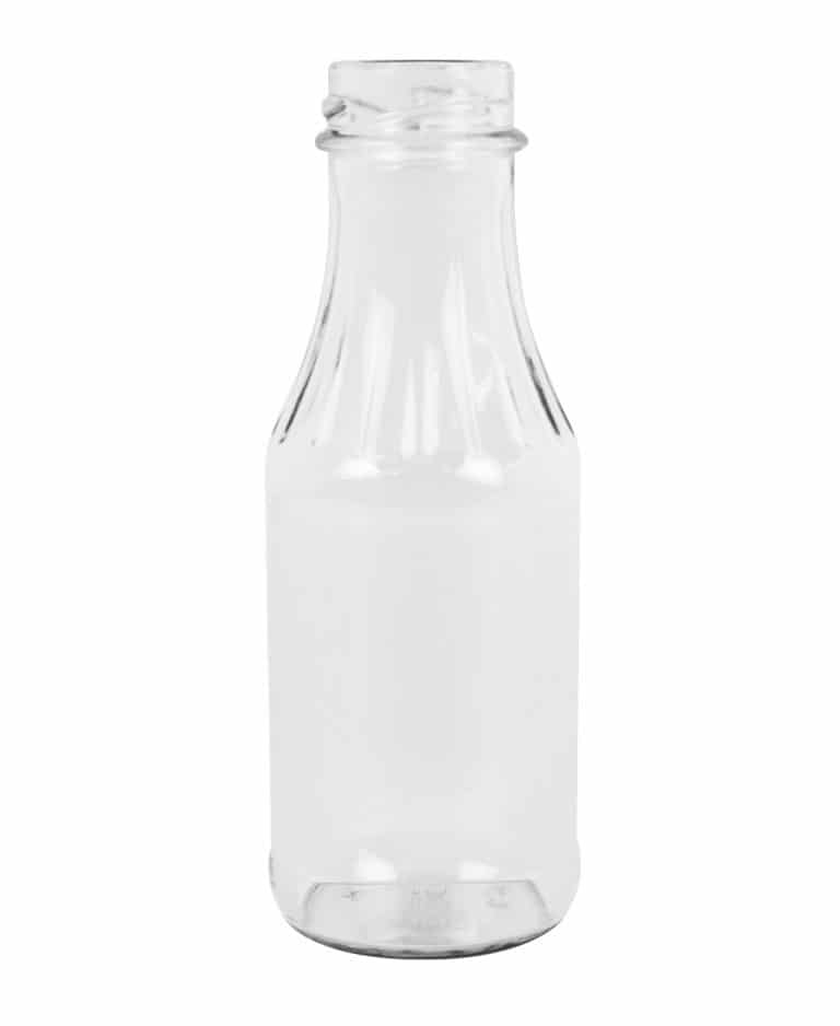Melba sauce jar 268ml 38TO glass white flint