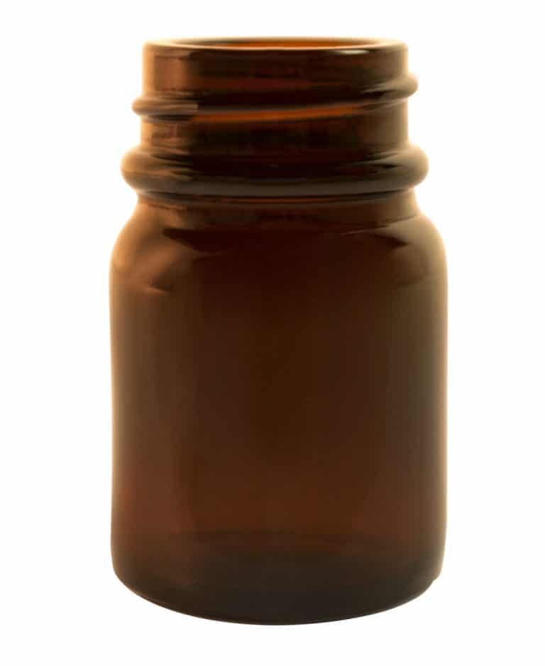 Poederpot 015ml 28/R3 glas bruin