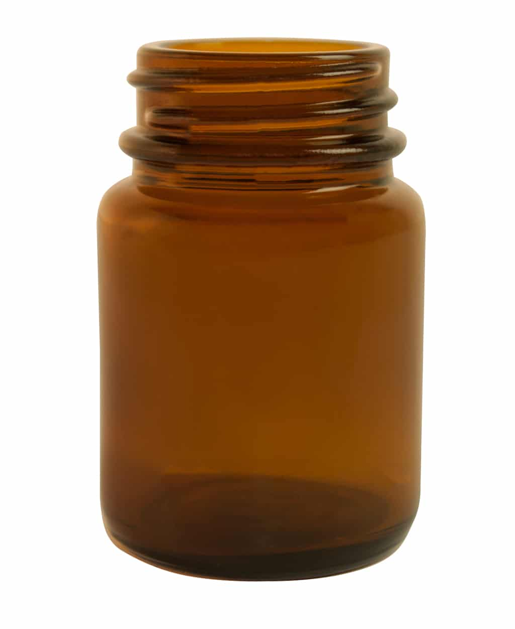Powder jar 030ml 33/R3 glass amber