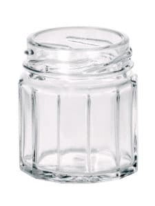 Dodecagon jar 045ml 43TO glass white flint
