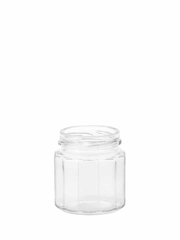 Dodecagon jar 120ml 53TO glass white flint