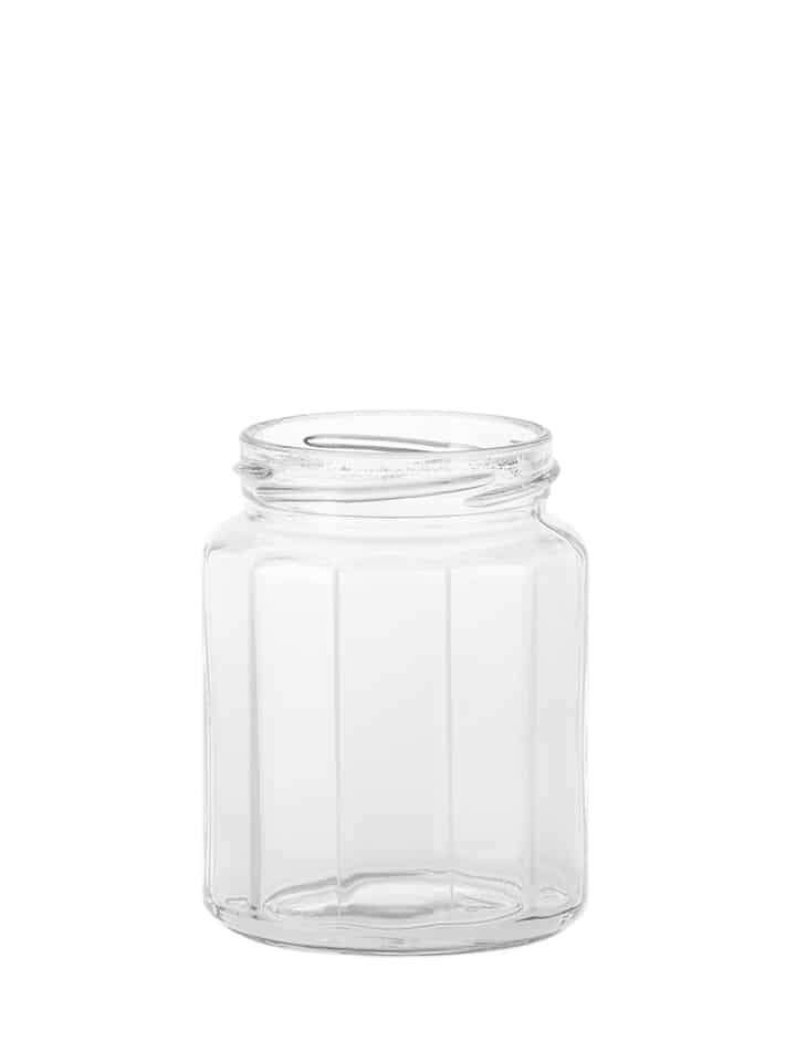 Dodecagon jar 292ml 63TO glass white flint