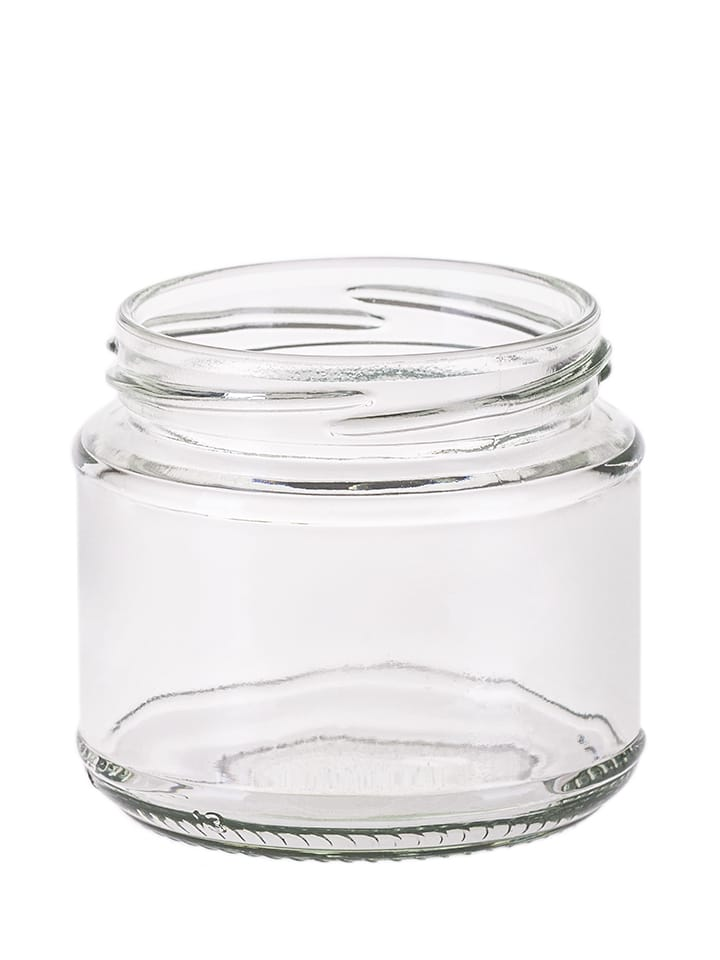 Squat jar 200ml 70TO glass white flint
