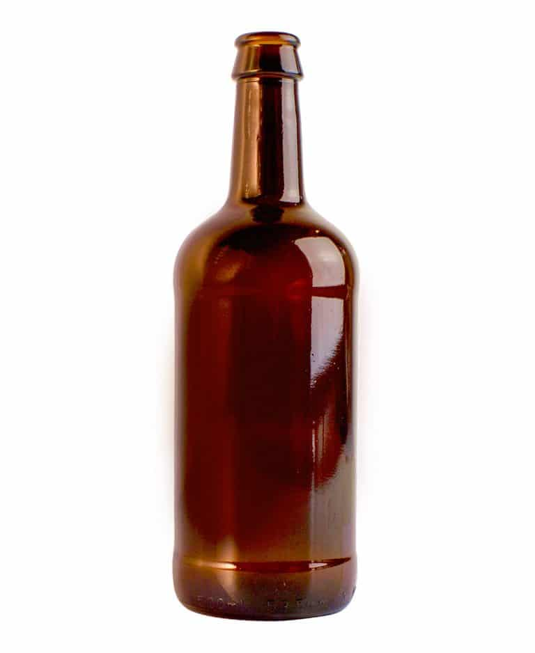 Beer bottle 500ml crown glass amber