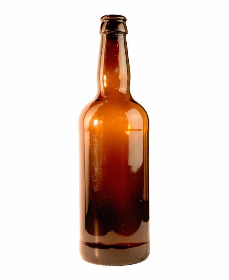 Bierfles 500ml kroon glas bruin