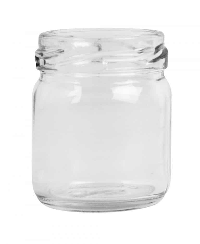 Mini jar 041ml 43TO glass white flint
