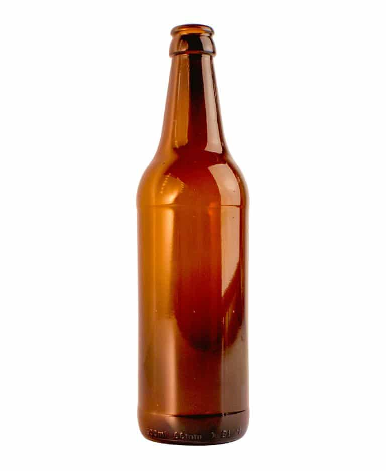 Beer bottle craft 500ml crown glass amber