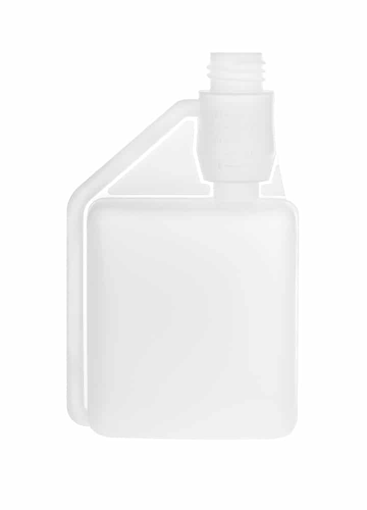 Dosing bottle 500/25ml 1N DIN28 HDPE natural