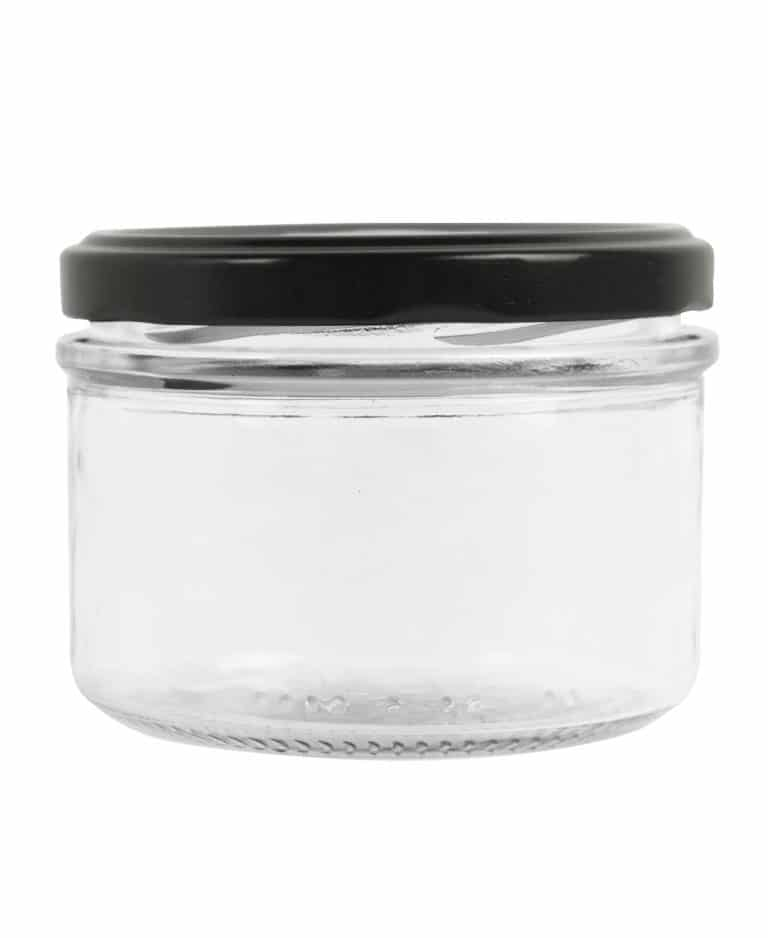 Verrine Tiegel 260ml 82TO glas weiß mit protection ring
