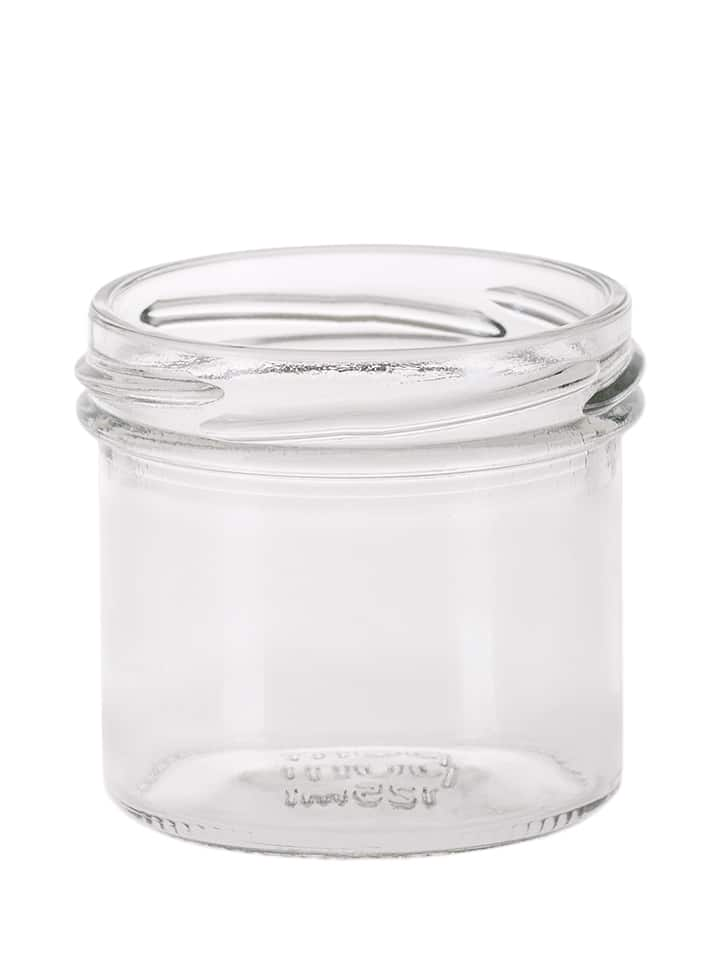 Bonta jar 225ml 82TO glass white flint