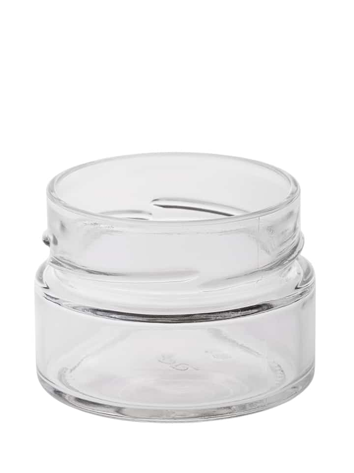 Deep twist off jar 106ml 70DTO glass white flint