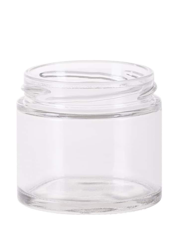 Caviar jar 120ml 66TO glass white flint