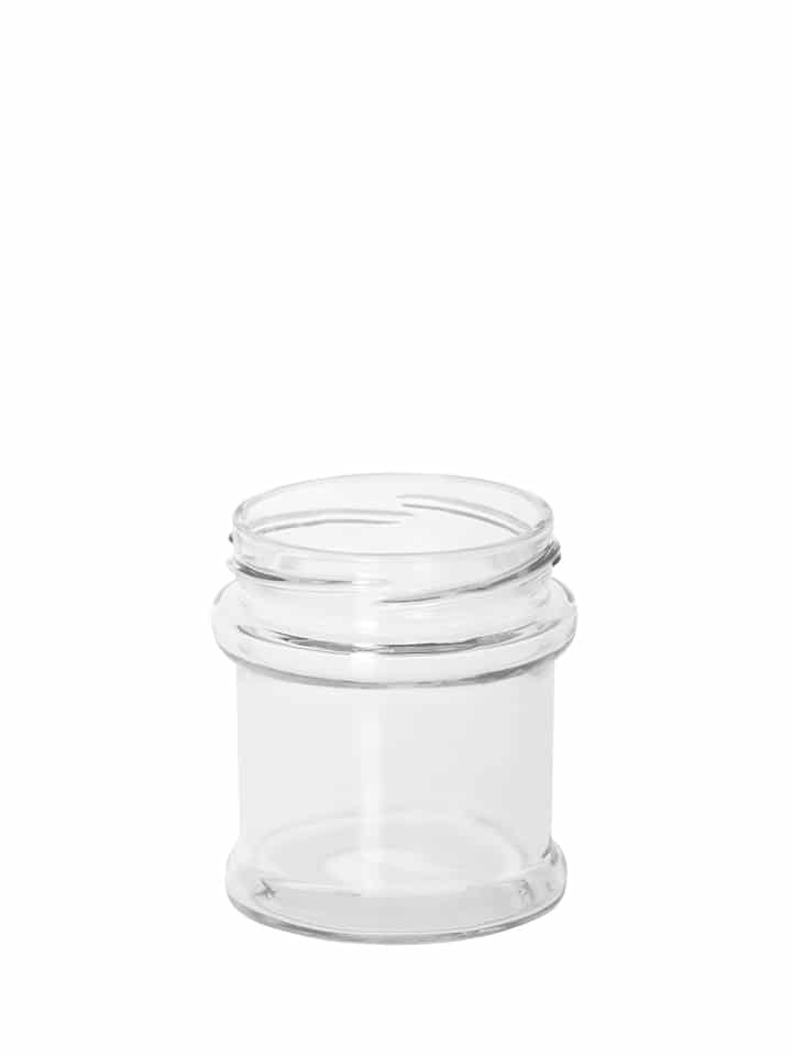 Profile jar 160ml 63TO glass white flint