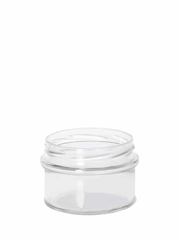 Profile jar 185ml 77TO glass white flint
