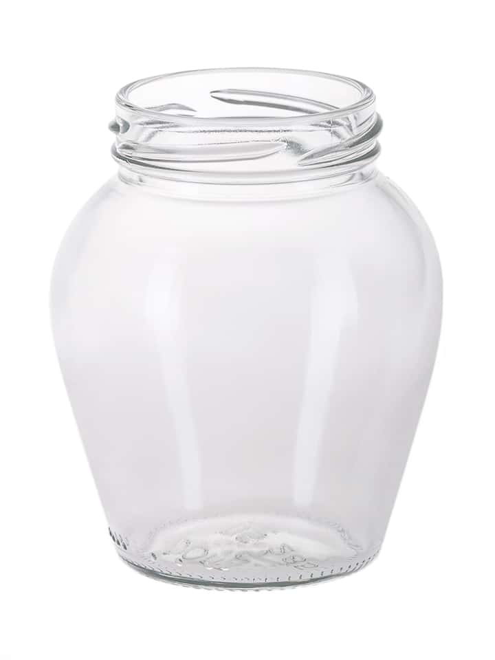 Ampha jar 285ml 58TO glass white flint