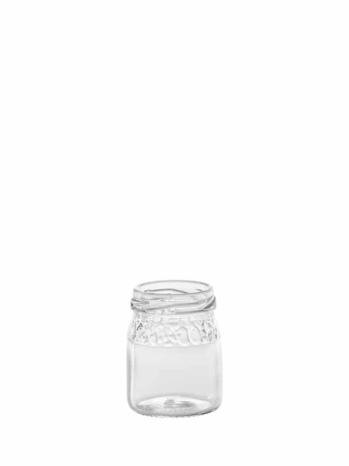 Fruit embossed pot 050ml 43TO glas wit