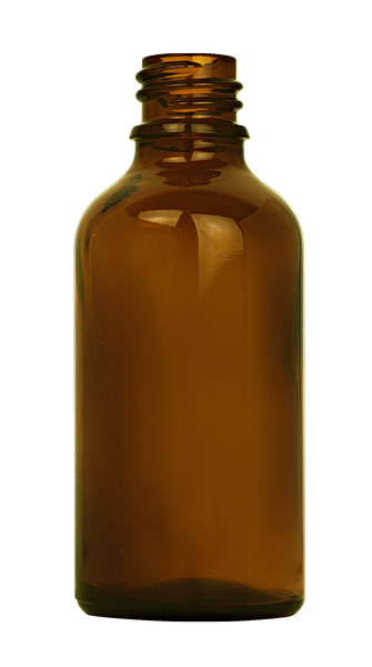 Dropper bottle 050ml GL18 glass amber