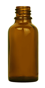 Flacon compte goutte 030ml GL18 verre jaune