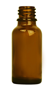 Dropper bottle 015ml GL18 glass amber
