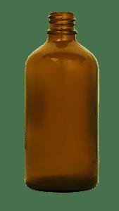Flacon compte goutte 100ml GL18 verre jaune