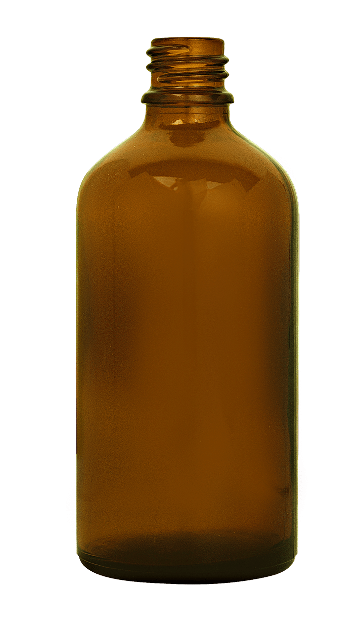 Dropper bottle 100ml GL18 glass amber