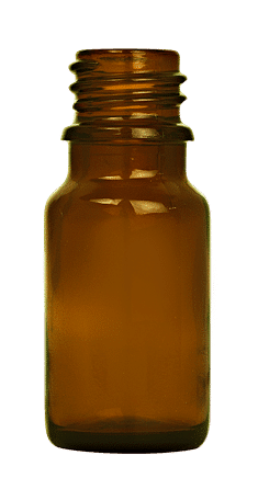 Dropper bottle 010ml GL18 glass amber