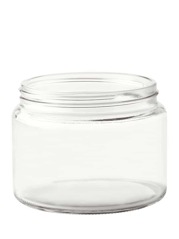 Jar 500ml 100/R3 glass white flint