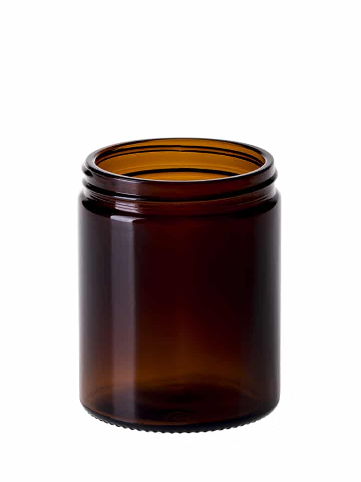 Jar 180ml 63/R3 glass amber