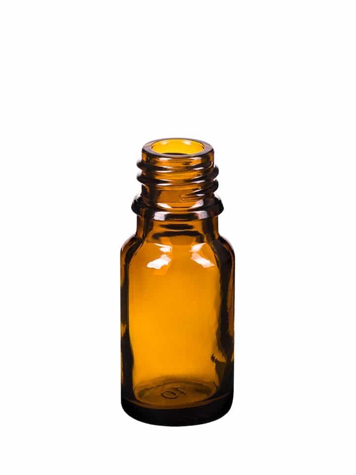 Dropper bottle 010ml GL18 glass amber