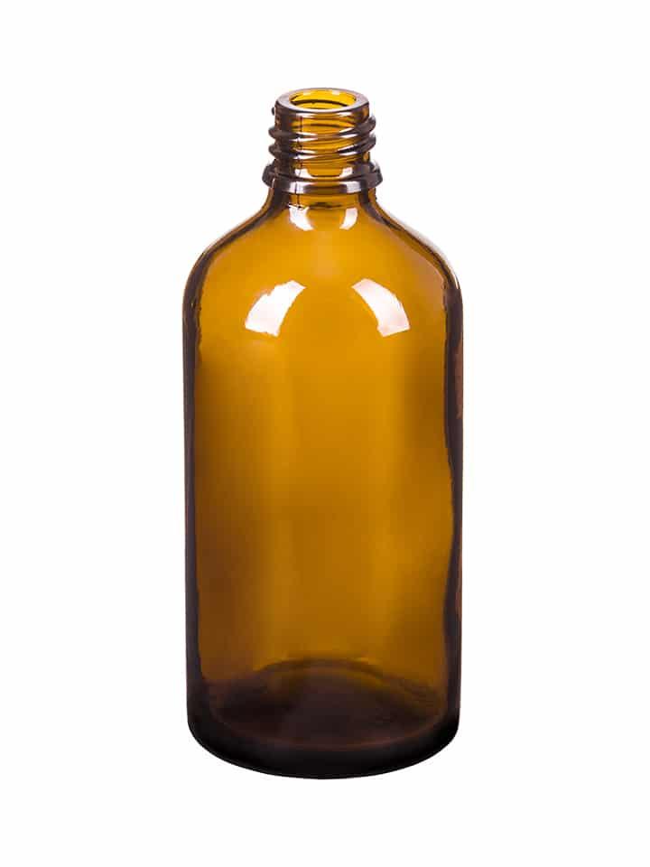 Dropper bottle 100ml GL18 glass amber