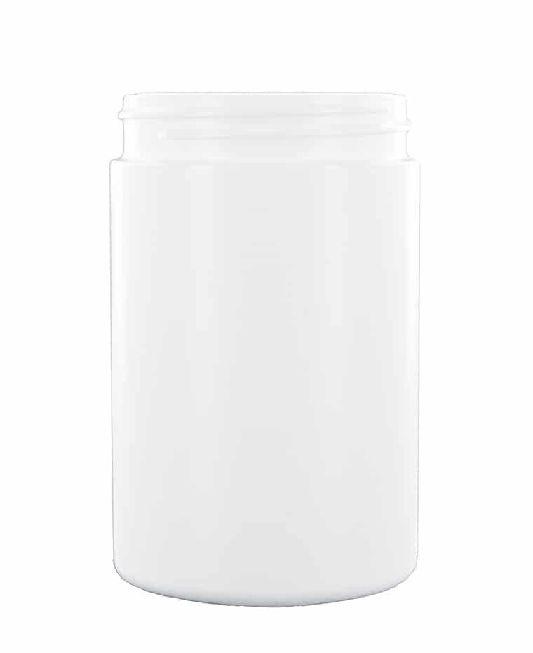 CYLINDRICAL JAR 300ML 63CT HDPE WHITE