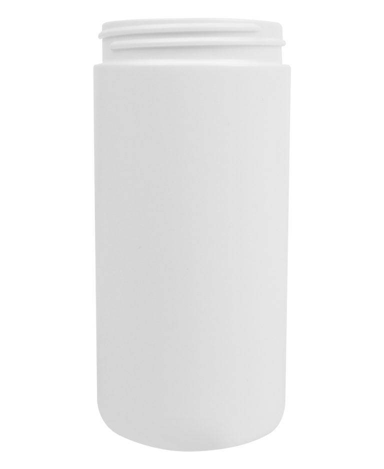 CYLINDRICAL JAR 400ML 63CT HDPE WHITE