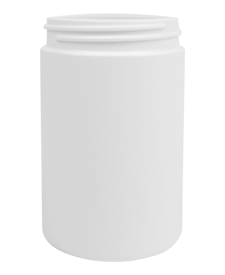 CYLINDRICAL JAR 300ML 63CT HDPE WHITE