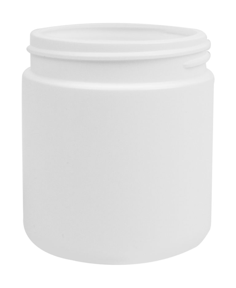 CYLINDRICAL JAR 200ML 63CT HDPE WHITE