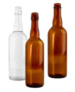 Les différents matériaux d'une bouteille de bière