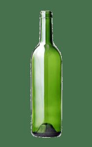Bouteille en verre verte