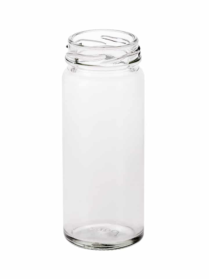 Cylindrical jar 108ml 43TO glass white flint
