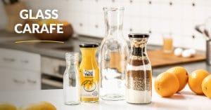 carafe glass bottle range