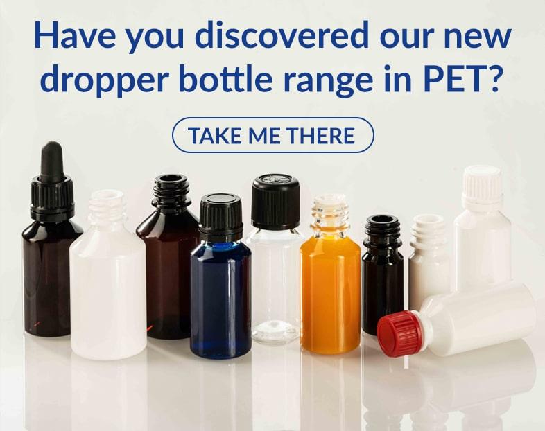 Dropper bottle PET